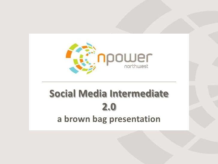 Social Media Intermediate           2.0 a brown bag presentation