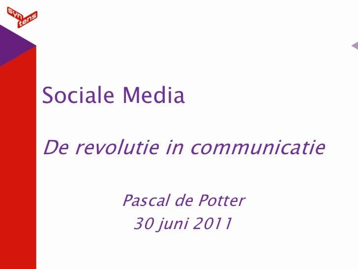 Social media introductie middelburg-30 juni 2011