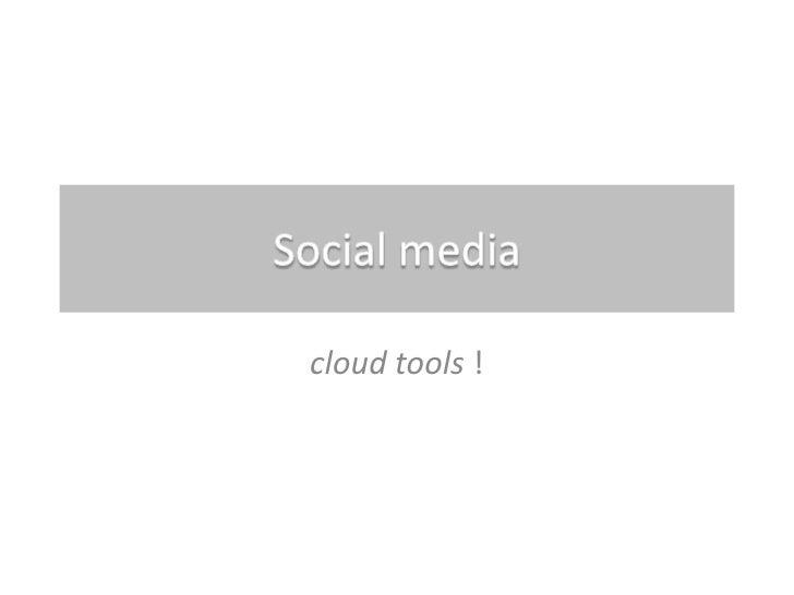 cloud tools !