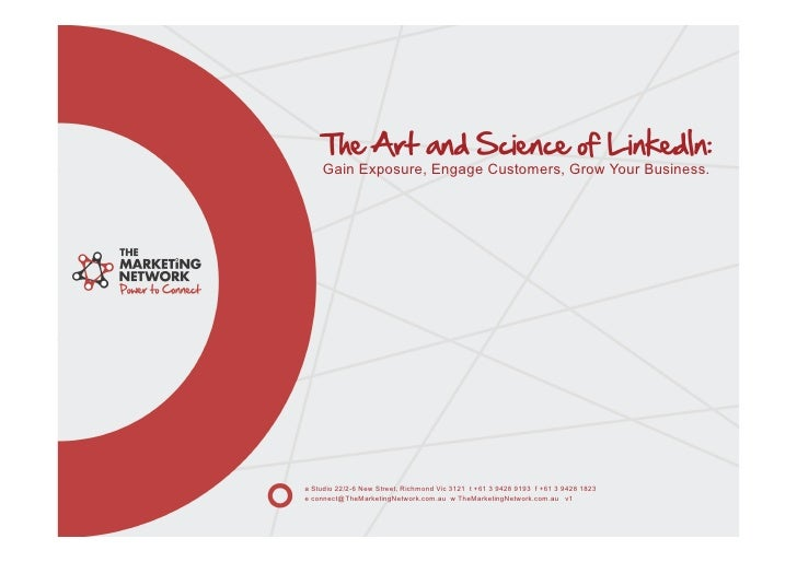 Social Media - The Art & Science of Linked In - March 2011