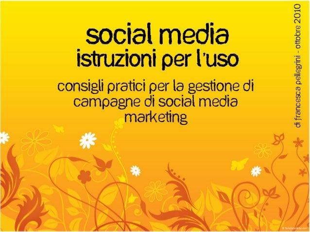 Social media istruzioni per l'uso