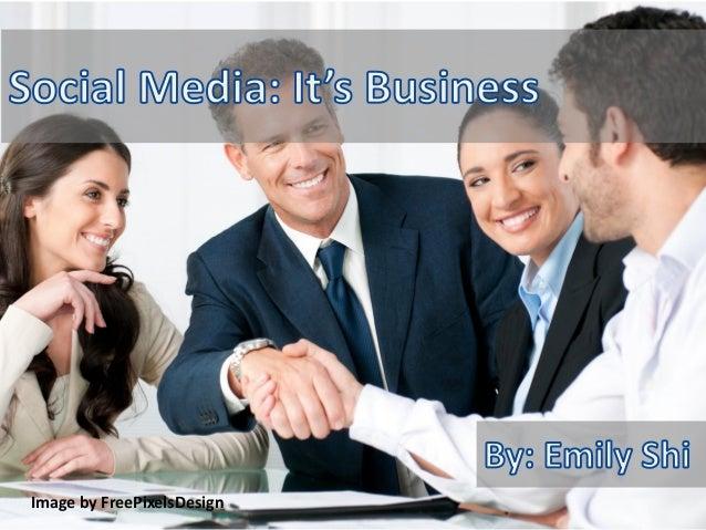 Social media it's business