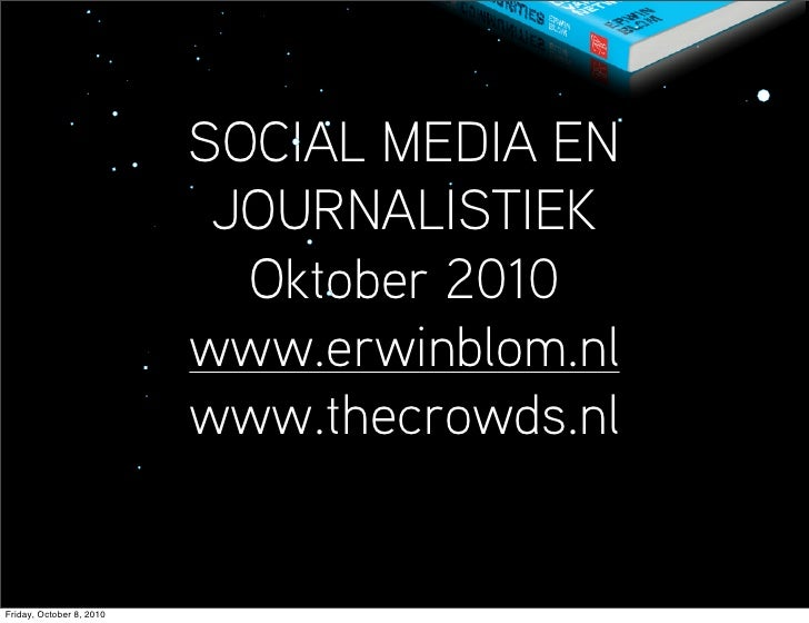 Social media & journalistiek
