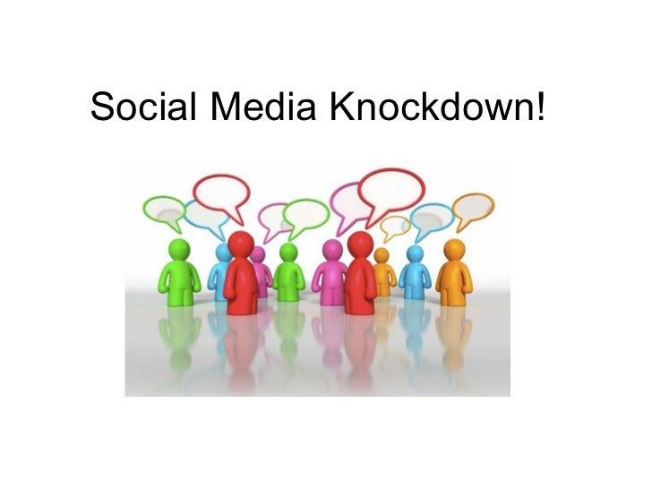 Social media knockdown