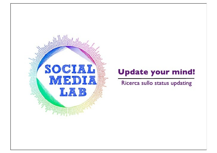 Social Media Lab - Update Your Mind - Status Update - Tesicamp