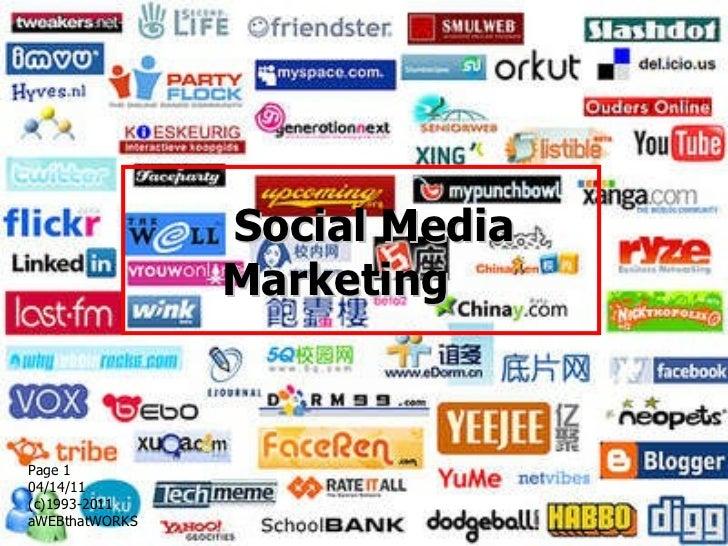 Social Media Marketing  Page  04/14/11   (c)1993-2011 aWEBthatWORKS