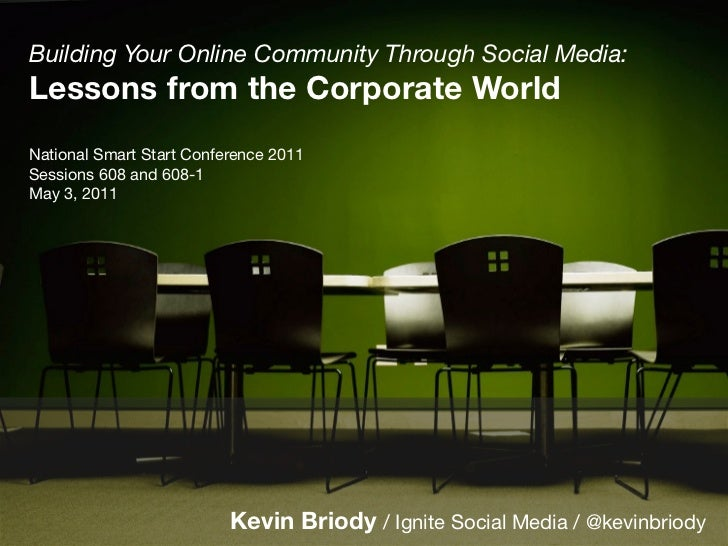 10 Social Media Lessons from the Corporate World: National Smart Start 2011