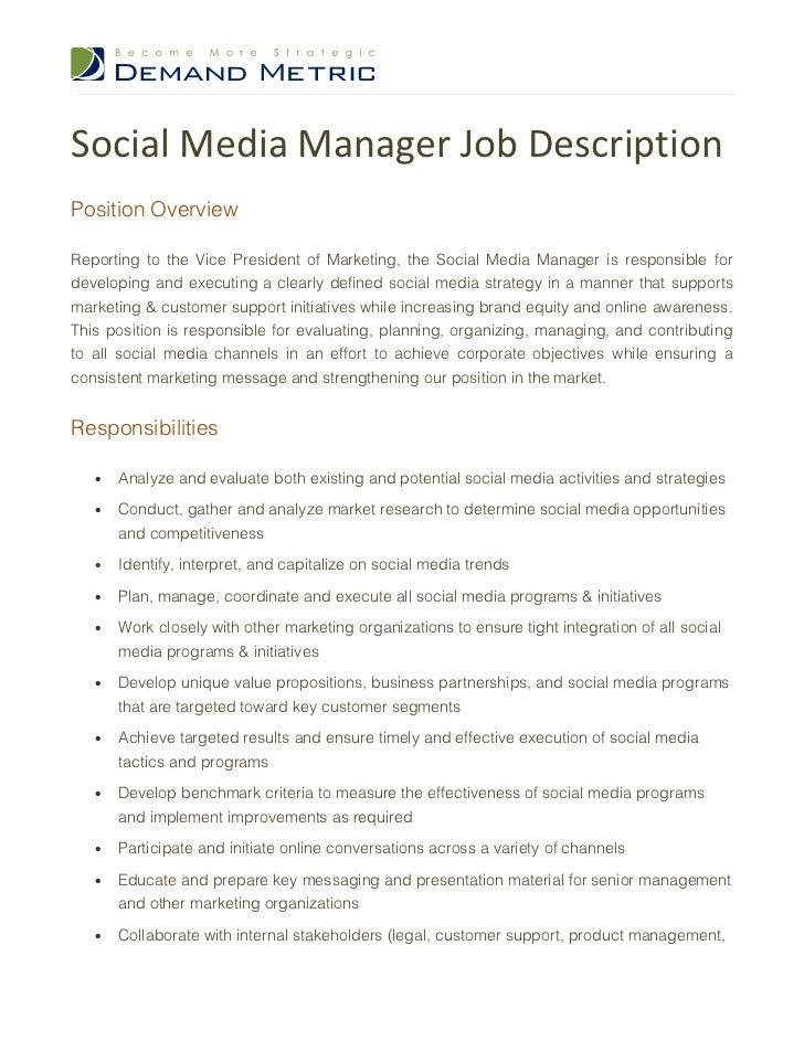 Job Descriptions Social Media Get An Online Job For A 13 Year Old   Social  Media