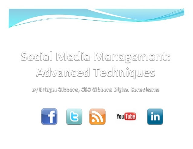 Social media managment advanced techniques