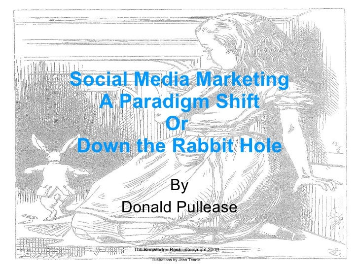 Social Media Marketing A Paradigm Shift Or  Down the Rabbit Hole By Donald Pullease