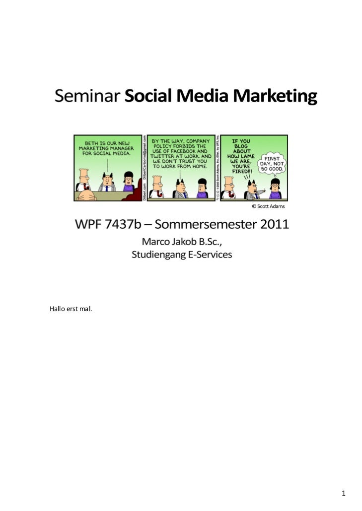 Seminar Social Media Marketing