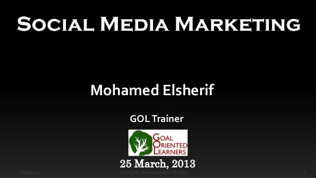 Mohamed Elsherif                    GOL Trainer                25 March, 20131/25/2013   `   All Rights Reserved GOL © 201...