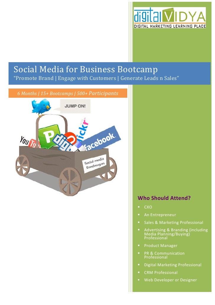 SMM (Social Media Marketing) Bootcamp by Digital Vidya