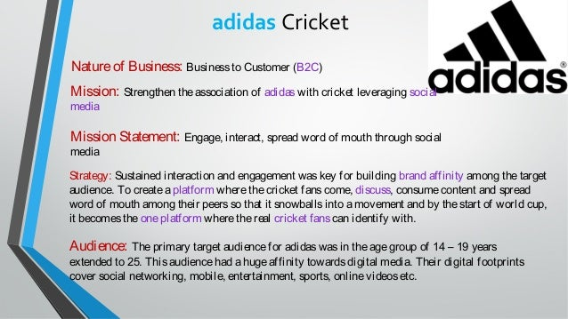"adidas vision statement The mission statement of adidas is ""the adidas group strives to be in the global leader in the sporting goods industry with brands built on a passion for sports and."