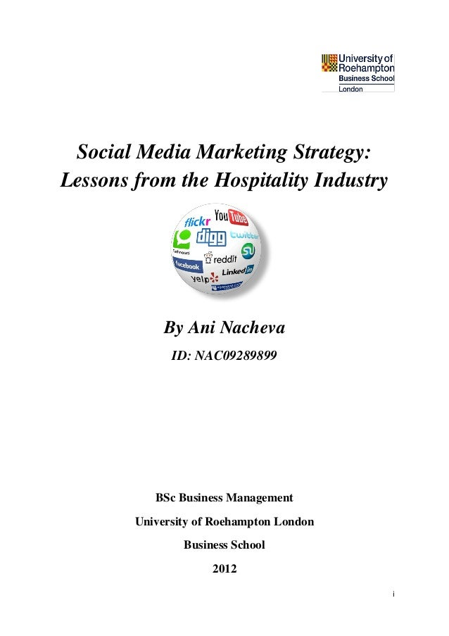 Social Media Marketing Strategy: Lessons from the Hospitality Industry