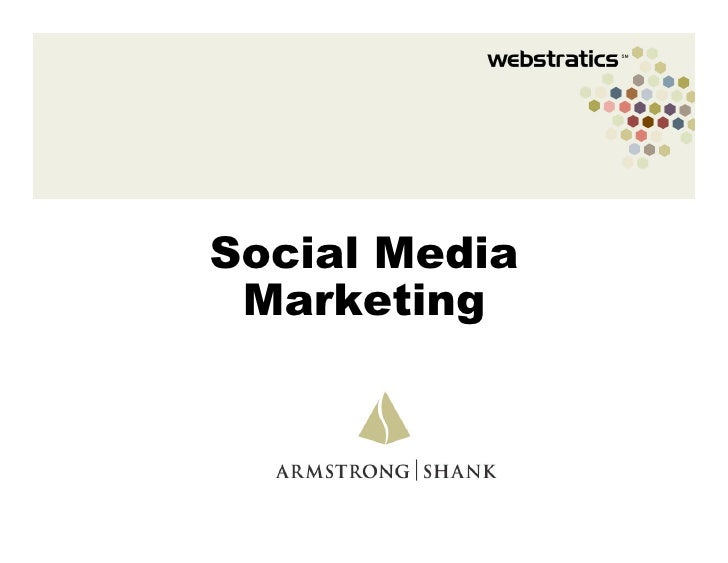 Social Media Marketing Armstrong Shank