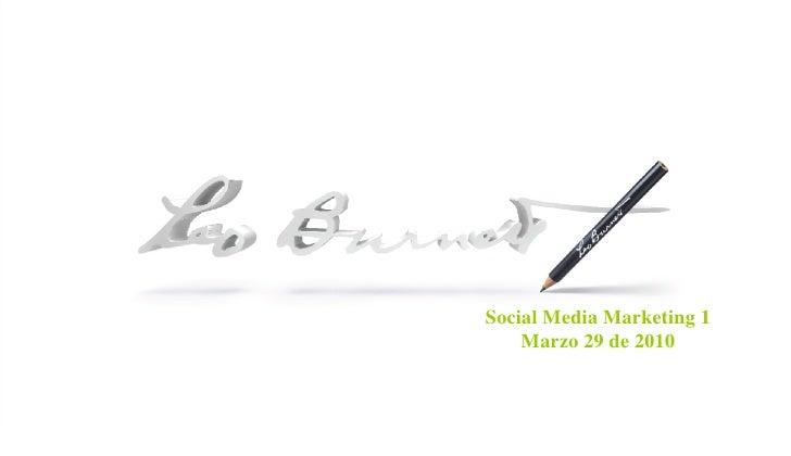 INTRO PAGE Social Media Marketing 1 Marzo 29 de 2010