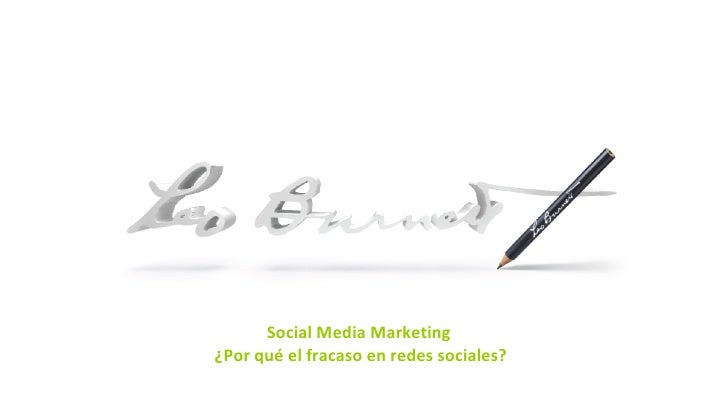 INTRO PAGE Social Media Marketing  ¿Por qué el fracaso en redes sociales?