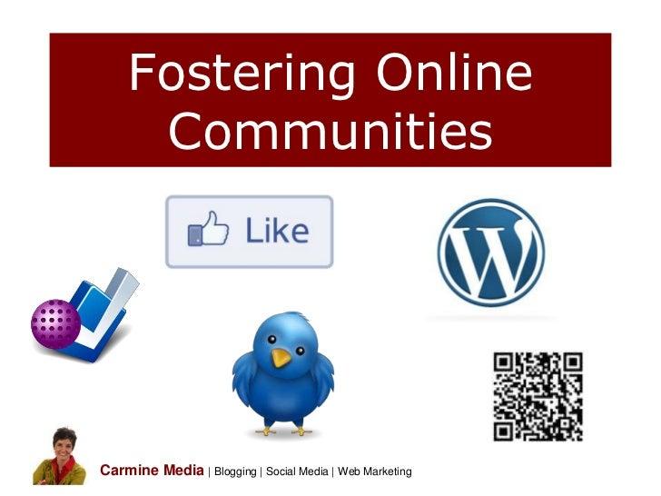 Fostering Online Communities by Sue Reynolds