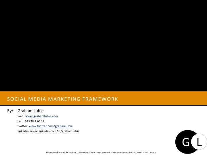 Social media Marketing Framework<br />By: Graham Lubie<br />web: www.grahamlubie.com<br />cell:. 617.821.6169<br />twi...
