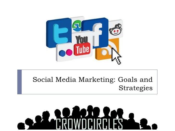 Social Media Marketing: Goals and                        Strategies