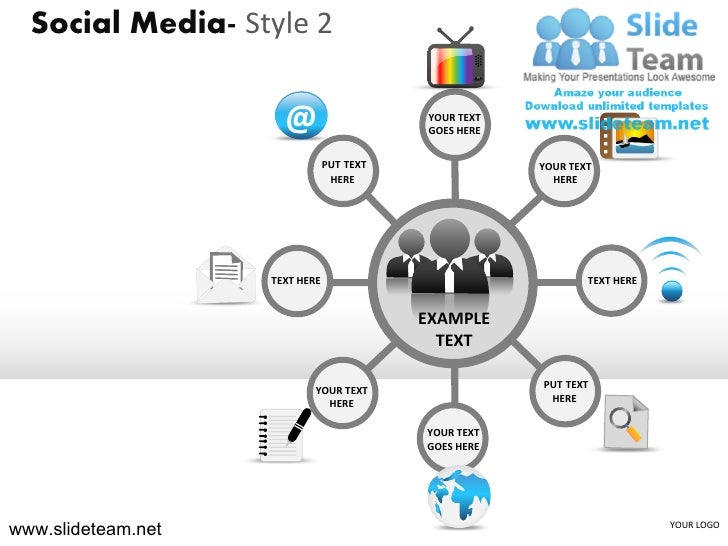 Social Media- Style 2                      @                     YOUR TEXT                                            GOES...