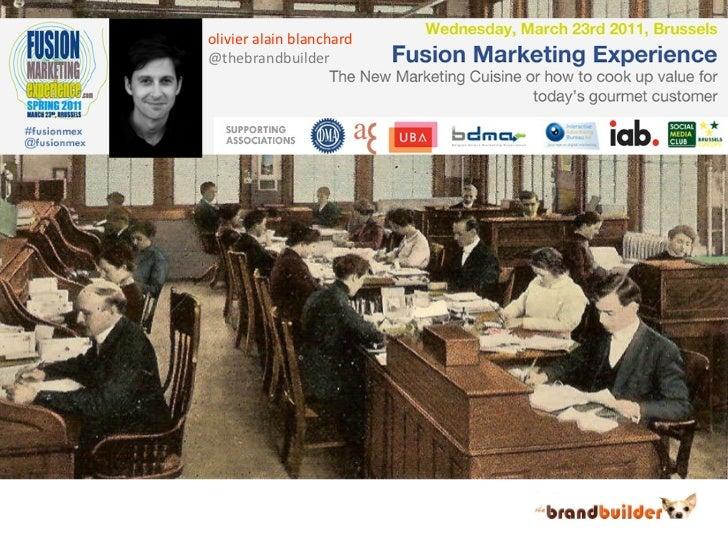 Social media marketing presentation at #fusionmex by Olivier Blanchard - @thebrandbuilder