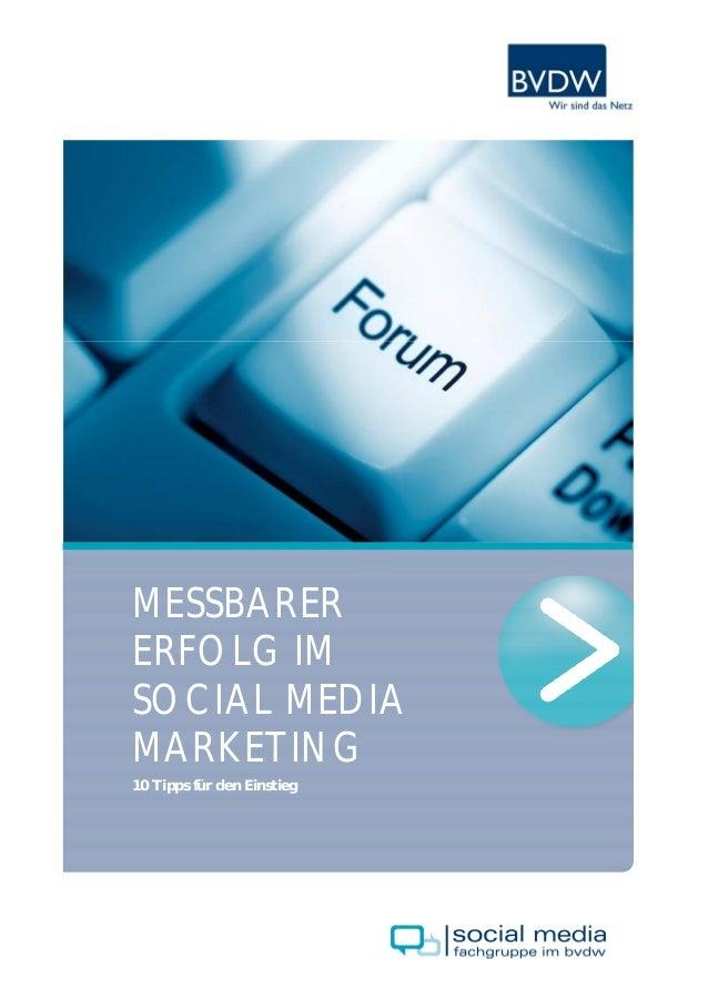 MESSBARERERFOLG IMSOCIAL MEDIAMARKETING10 Tipps für den Einstieg