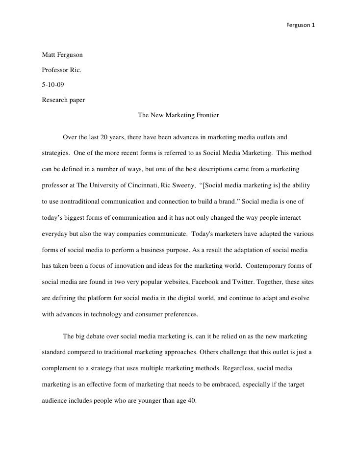 Argumentative essay on new media
