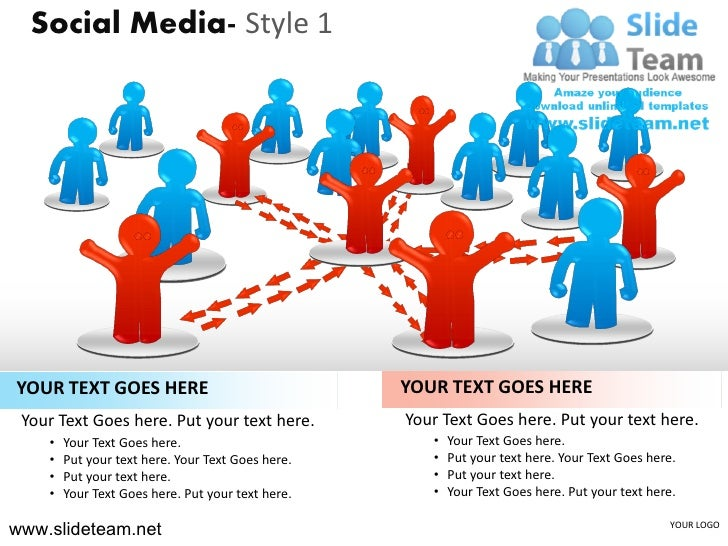 Social media marketing people connected connections design 1 powerpoint ppt templates.