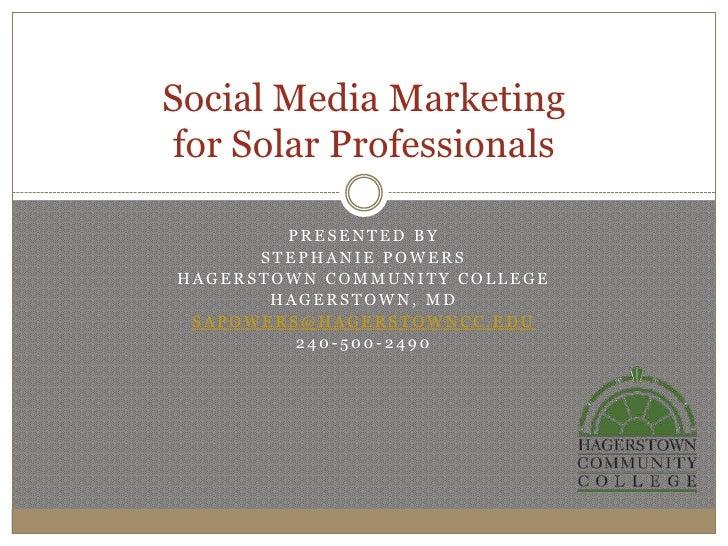 Social Media Marketing for Solar Professionals