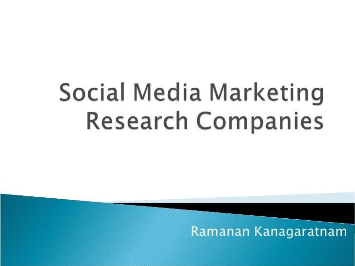 Social Media Marketing Research Companies