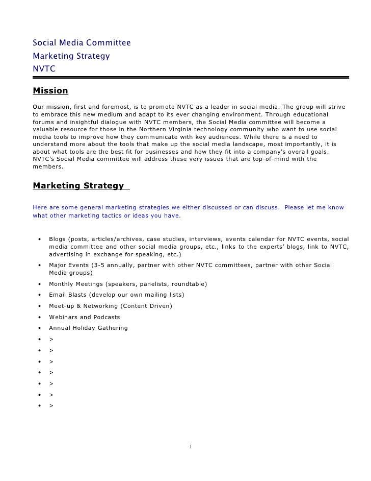 Social Media Marketing Strategy 10.5.09