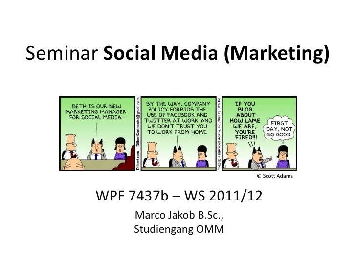 Seminar Social Media Marketing WS11/12