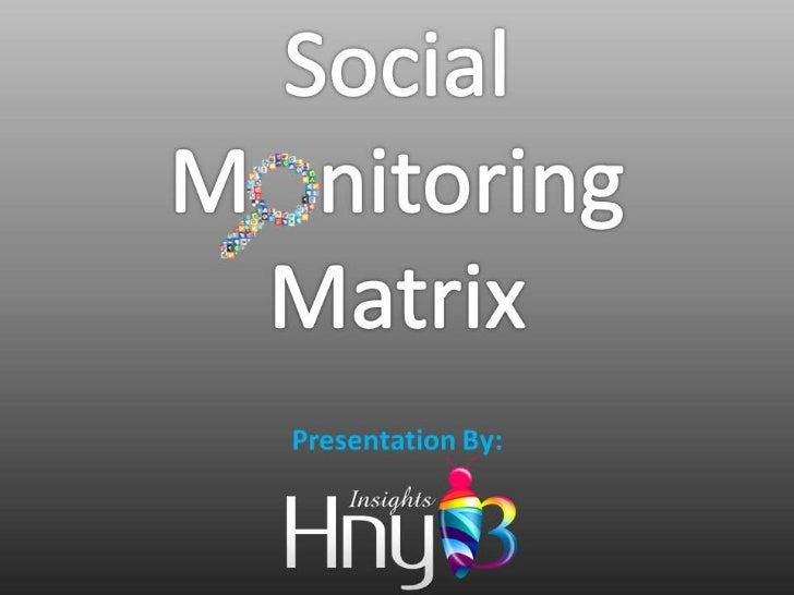 Social Monitoring Matrix by HnyB Insights