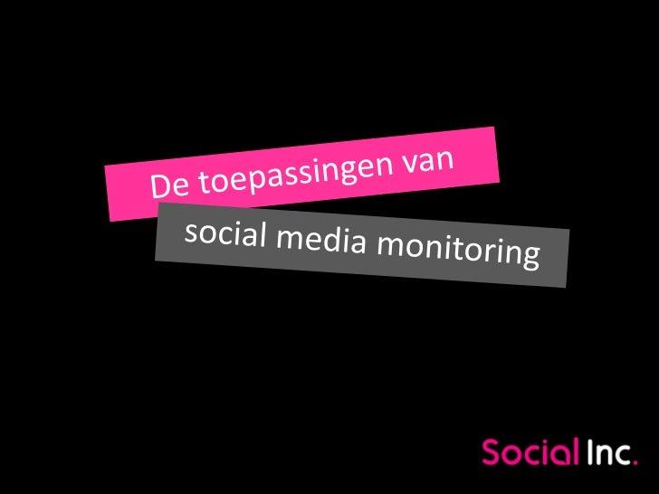 Toepassingen van social media monitoring