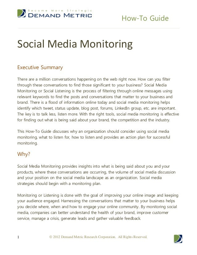 Social Media Monitoring How to Guide