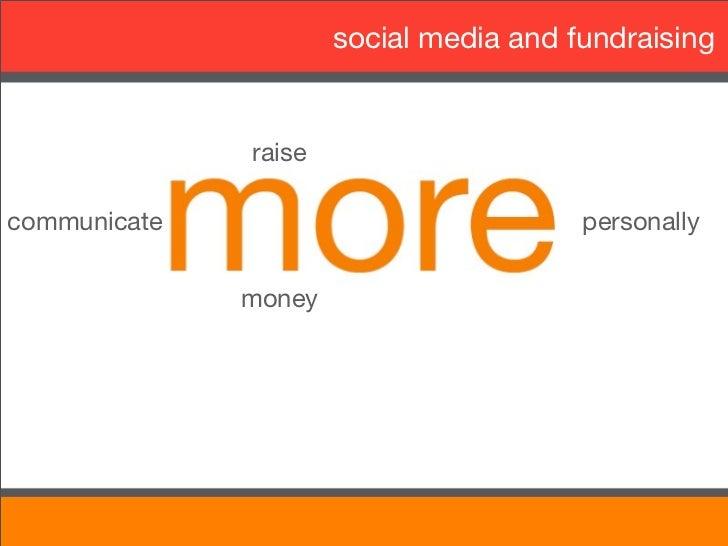 social media and fundraising              raisecommunicate                             personally              money