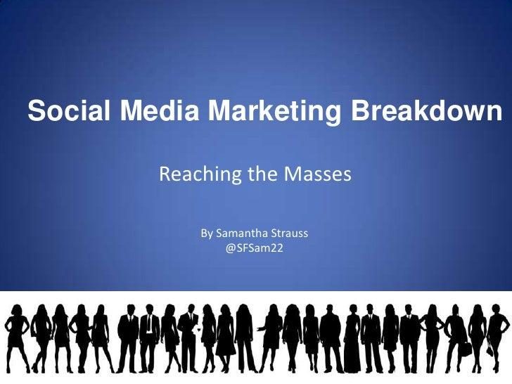 Social Media Marketing: Reaching The Masses