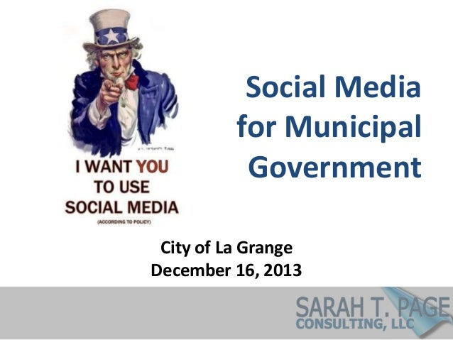 Social Media for Municipal Government