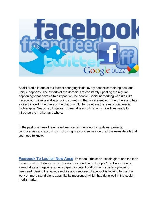 Social media news and updates 2014