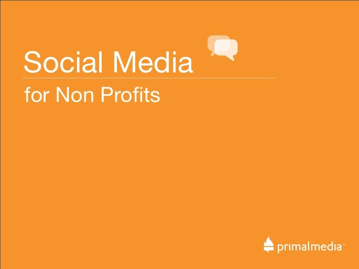 Social Media for Non Profits