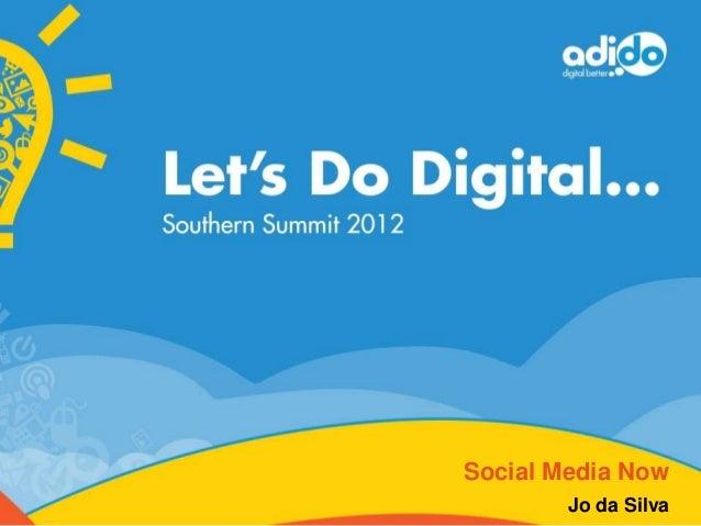LDD2012 - Social media now