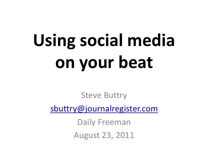 Social media on the beat