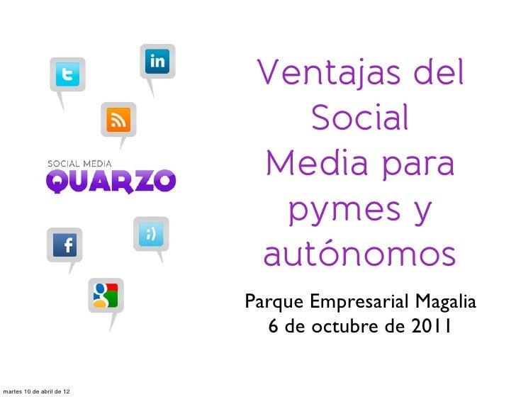 Ventajas del                              Social                            Media para                             pymes y...