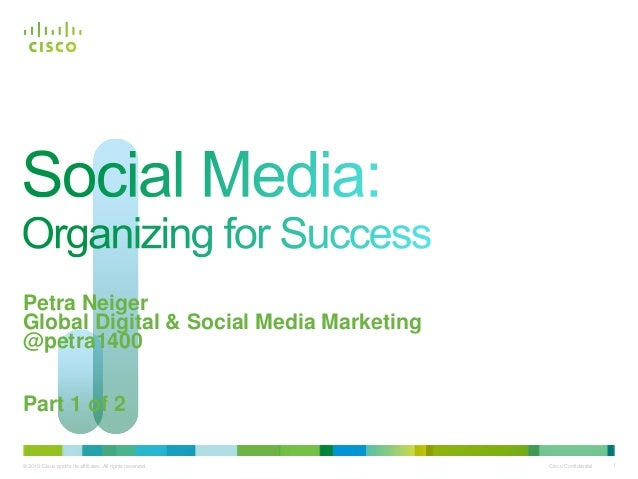 Social Media: Organizing for Success (Part 1 of 2)
