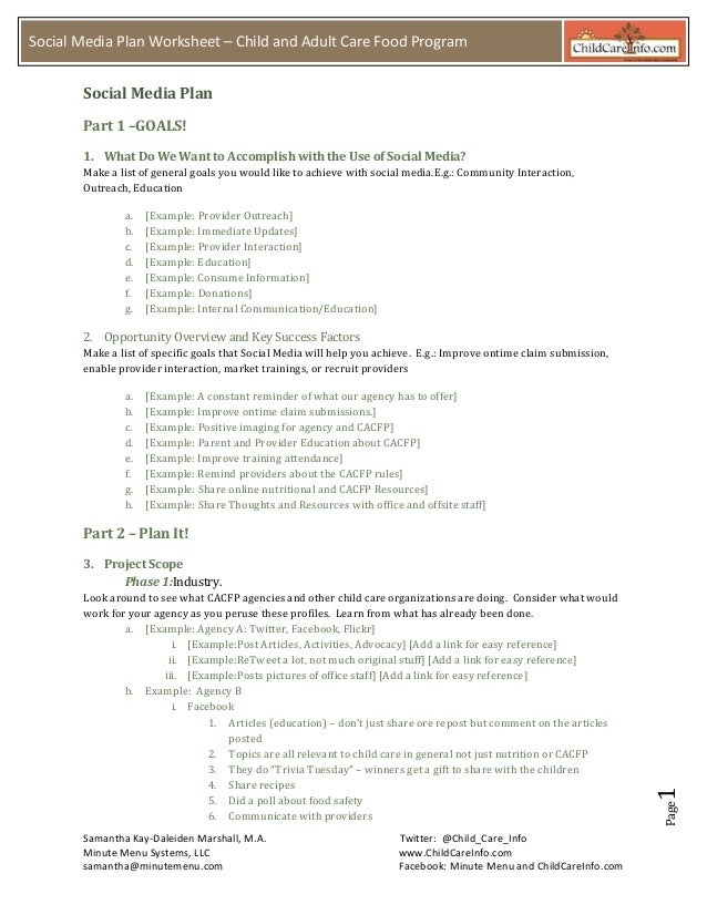 social media plan template 2012 handout my copy. Black Bedroom Furniture Sets. Home Design Ideas