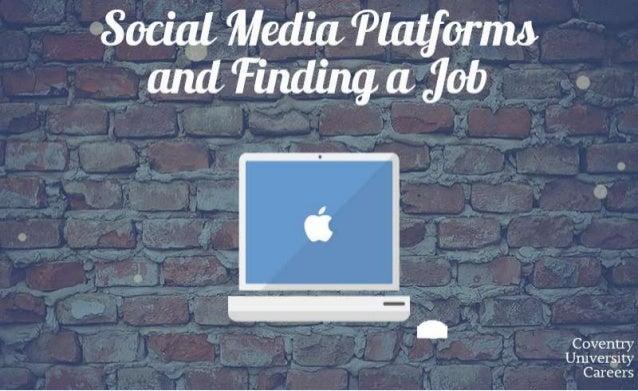 Social media platforms and finding a job
