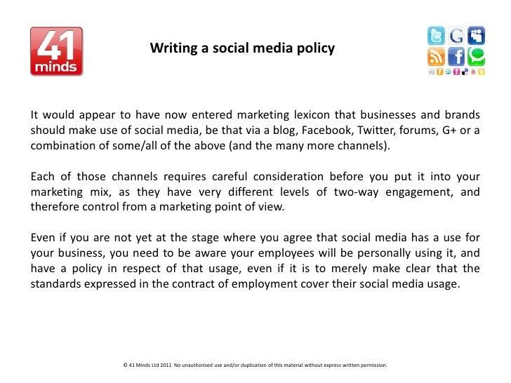 Writing a social media policy