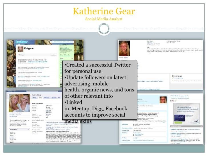 Katherine Gear's Social media portfolio
